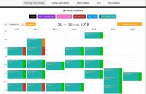 Gestion des planning MultiResa